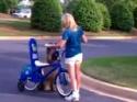 Borec - Pes na kole