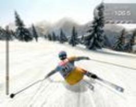 Sjezdové lyžování - děsivý pád