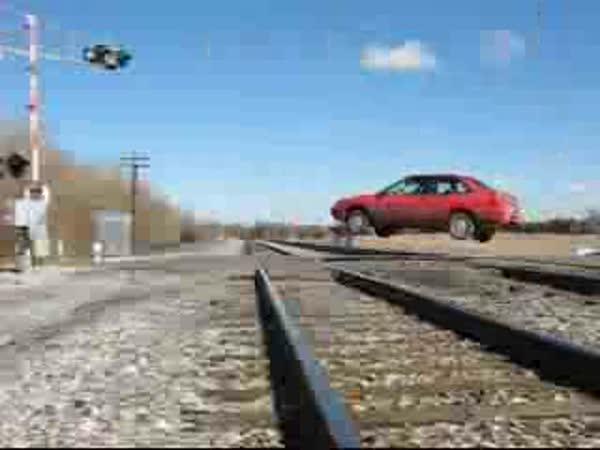 Jak se jezdí přes přejezd