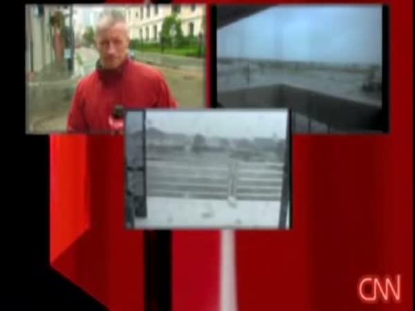 USA - hurikán Gustav a komentátor CNN