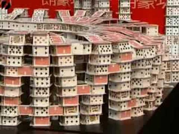 Peking - stavba z karet