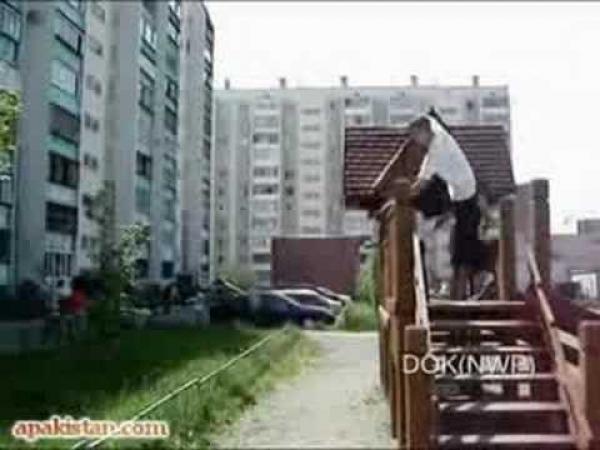Parkour - nebezpečný pád