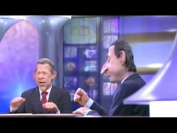 Gumák Sarkozy a Topolánek