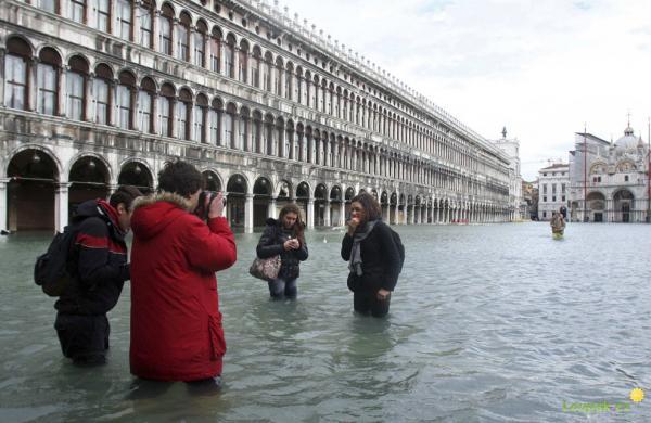 Itálie - Benátky - záplavy