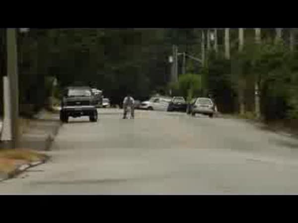 Adrenalin - jízda v nákupním vozíku