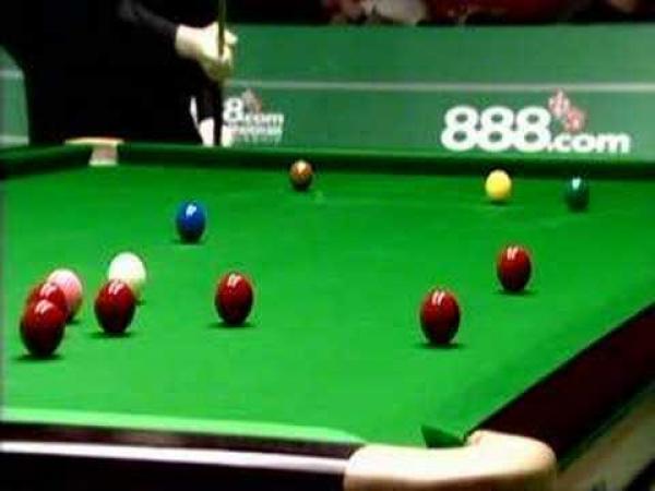 Snooker - podařené šťouchy [kompilace]