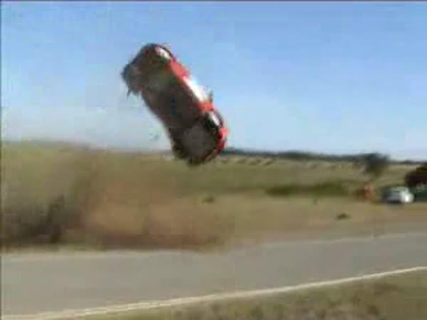 Rally - Peugeot - těžká nehoda