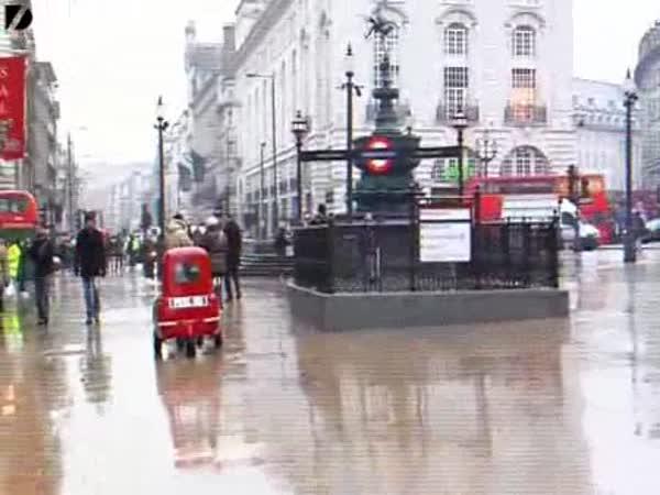 Anglie - nejmenší auto na světě