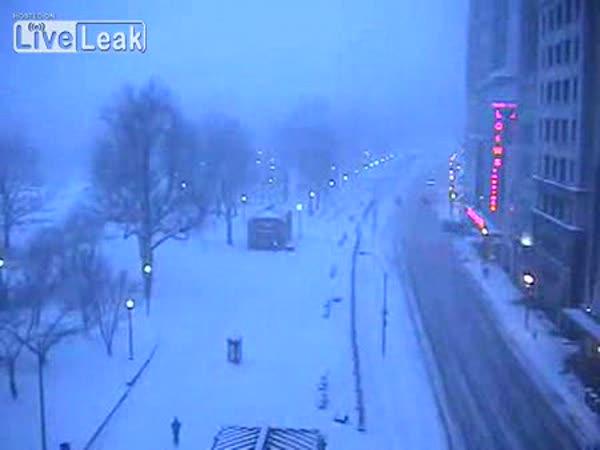 Boston - sněhová bouře