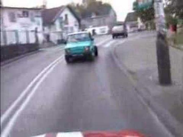 Polský Fiat - bláznivá jízda