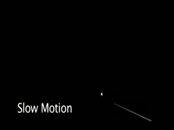 Slow motion - chemický pokus s vodíkem