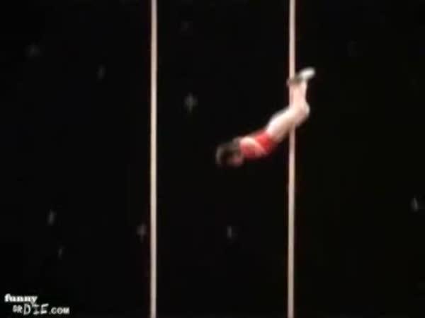 Akrobat na tyčích
