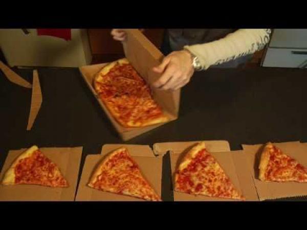 Praktická krabice na pizzu
