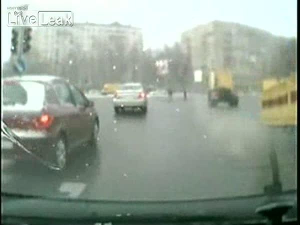 Rusko - ztráta návěsu za jízdy