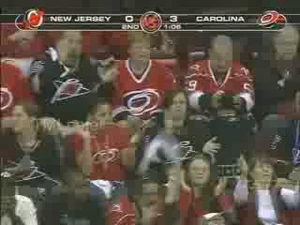 Hokej - Reakce na gól 2 fanoušků