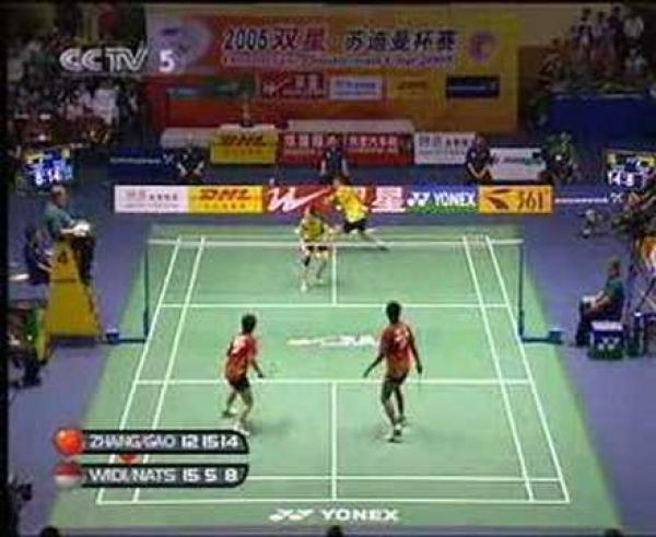 Badminton - nádherná výměna