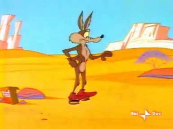 Looney tunes - Pták uličník a kojot Wilda