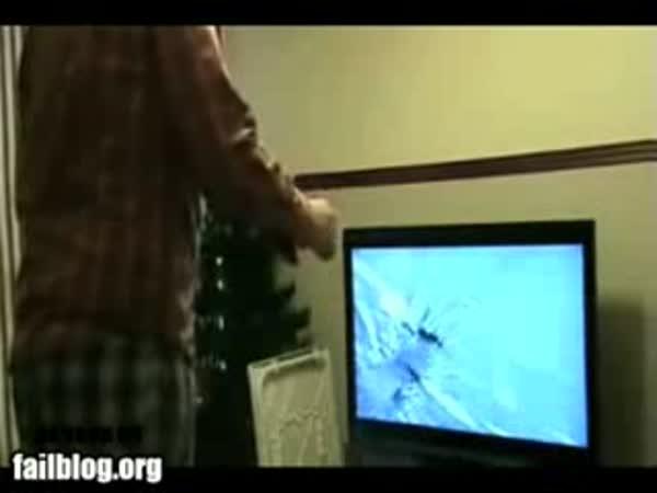 PlayStation a rozbitá televize