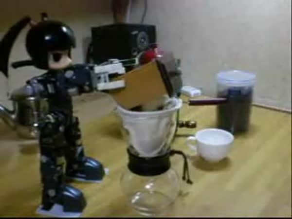 Šikovný robot Vám udělá kafíčko