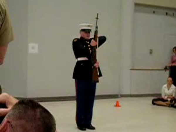 Hradní stráž - kousky s puškou
