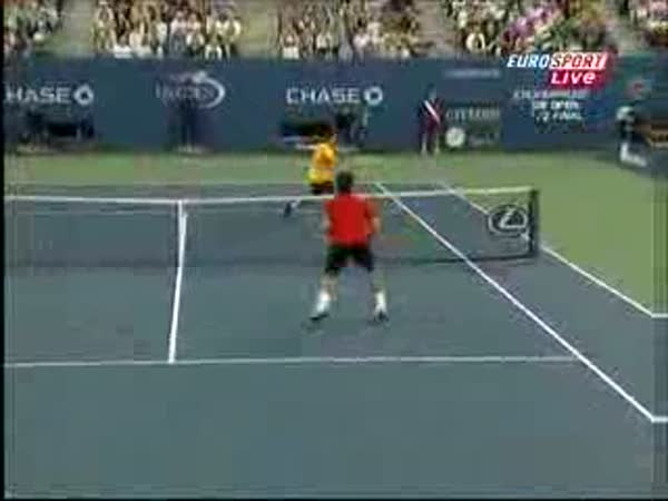 Roger Federer - vítězný míček