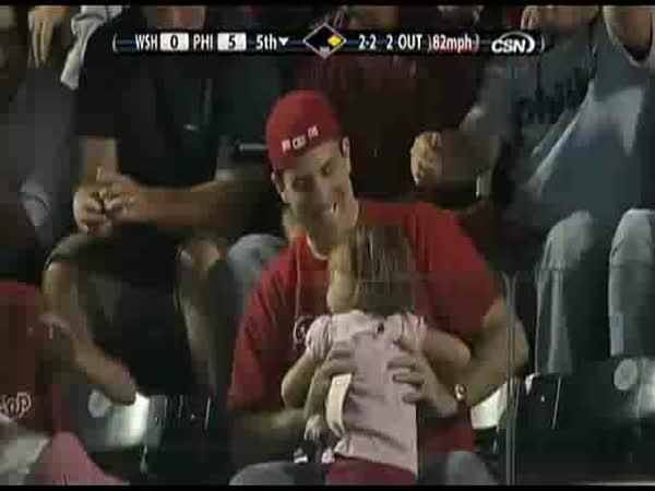 Baseballový míček pro dceru