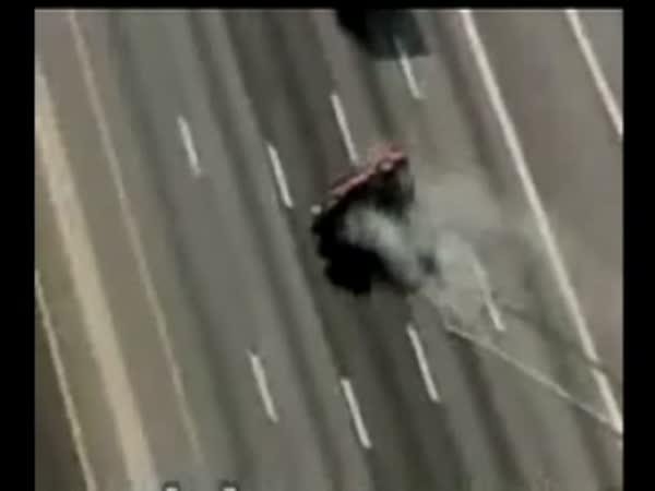 Vážná nehoda v přímém přenosu