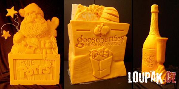 OBRÁZKY - Originální sochy ze sýru