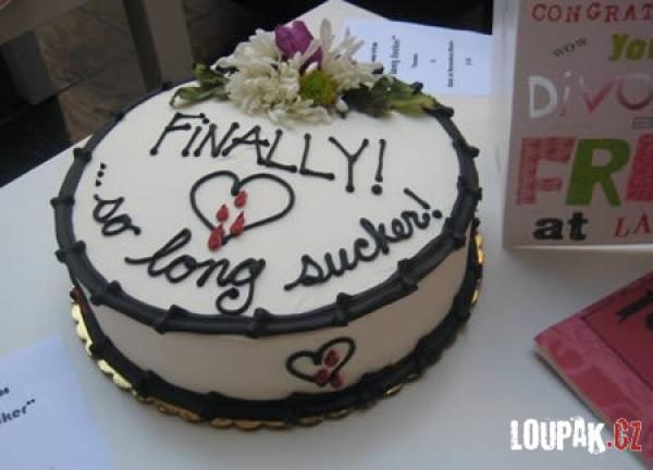 OBRÁZKY - Originální dorty na rozvod