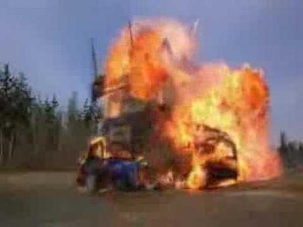 Šílená nehoda na silnici