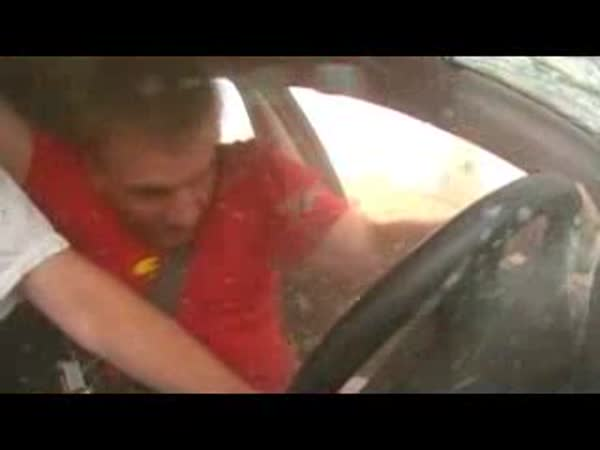 Rusko - Volvo V40 - nehoda [onboard]