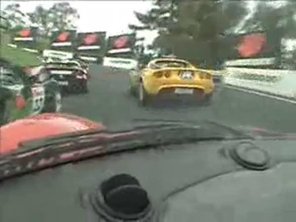 Automobilový závod - stíhací jízda