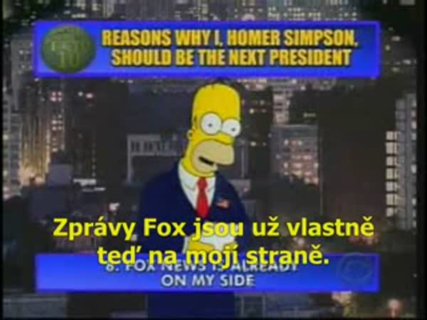 Homer Simpson - Prezident USA
