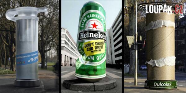 OBRÁZKY - Originální reklamní sloupy