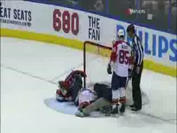 Hokej - Tomáš Vokoun zraněn spoluhráčem
