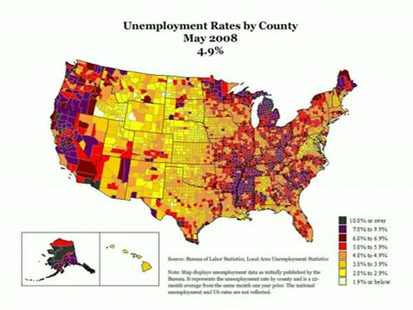 Hospodářská krize - Nezaměstnanost v USA