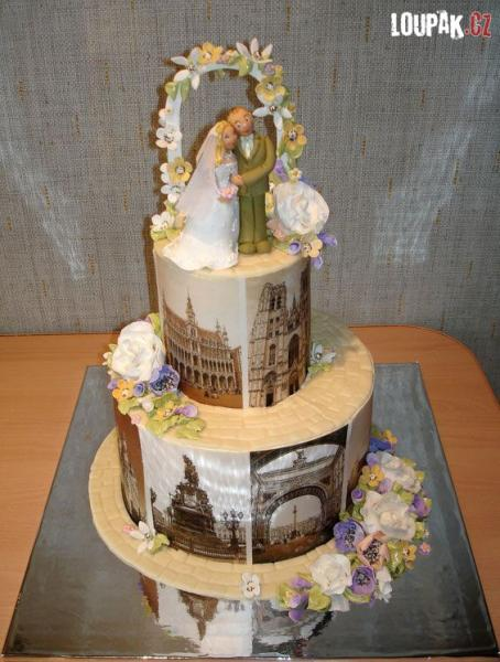 OBRÁZKY - Originální svatební dorty 3