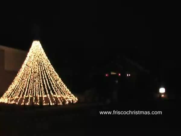 USA - Vánočně osvětlený dům II.