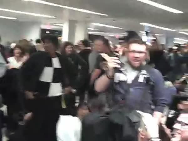 USA - Zábava při uzavření letiště