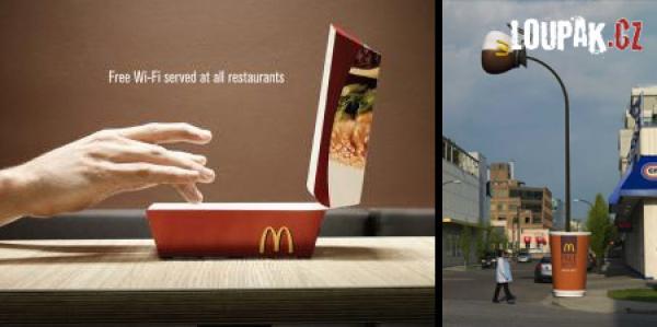 OBRÁZKY - Originální reklamy na McDonald