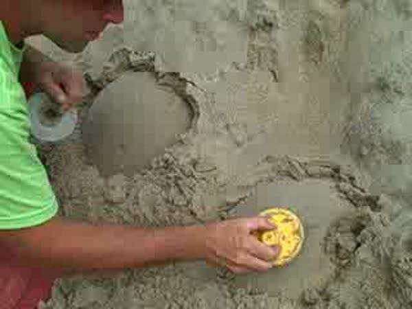 Nástroj na stavby z písku