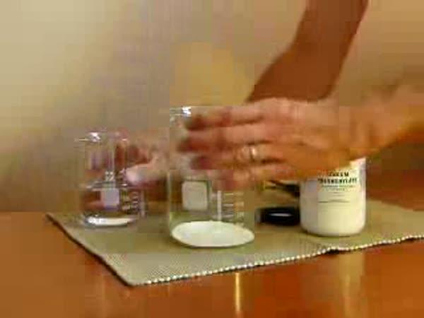 POKUS - Sodium Polyacrylate - absorpce