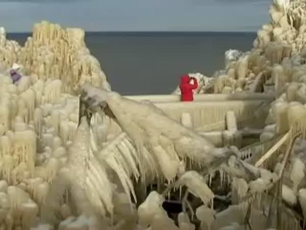 Estonsko - Ledový vodopád
