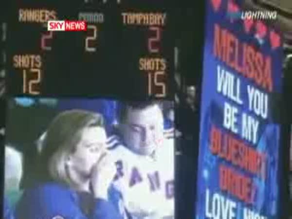Nepovedená žádost o ruku při NHL