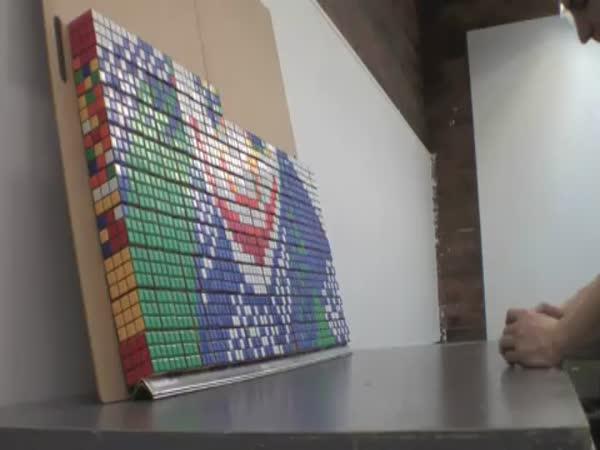 Rubikova kostka - Zajímavá mozaika