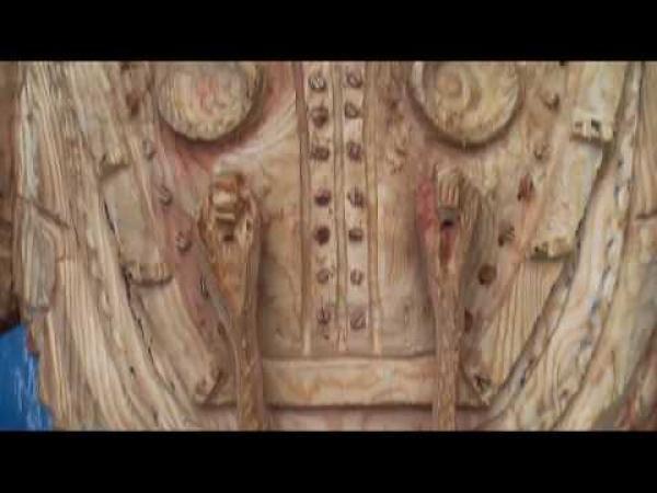 Borec - Socha ze dřeva - Bioschock