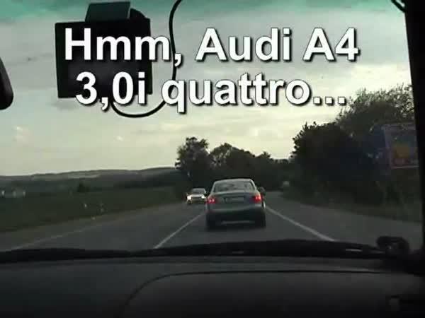 Idiot na české dálnici