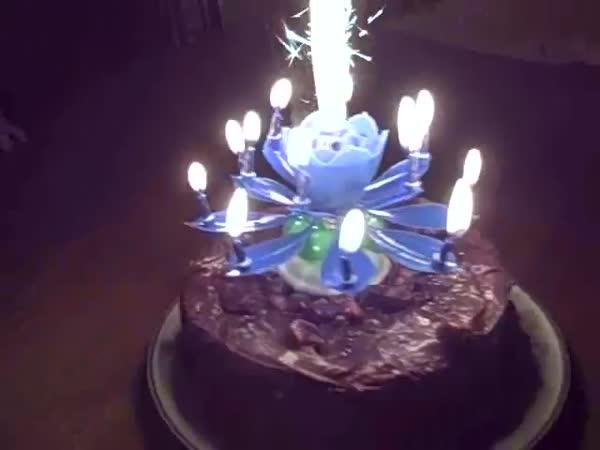 Originální narozeninová svíčka