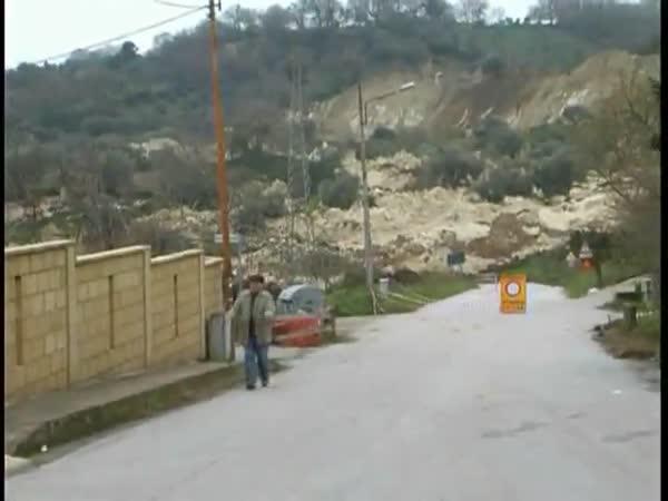 Itálie - Sesuv půdy po přívalovém dešti