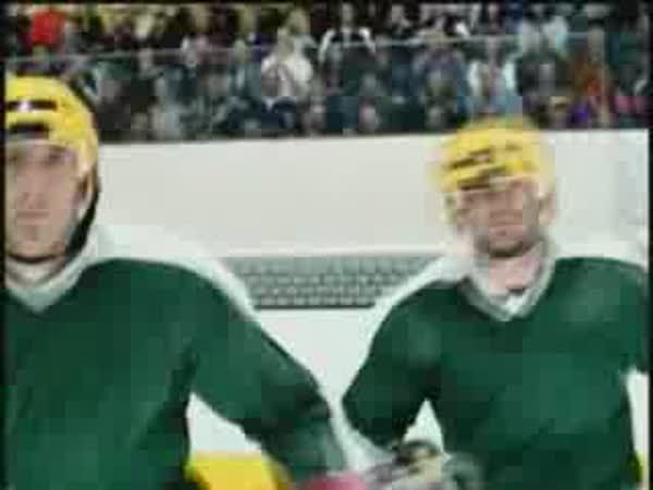 Krasobruslař vs. Hokejisté [reklama]